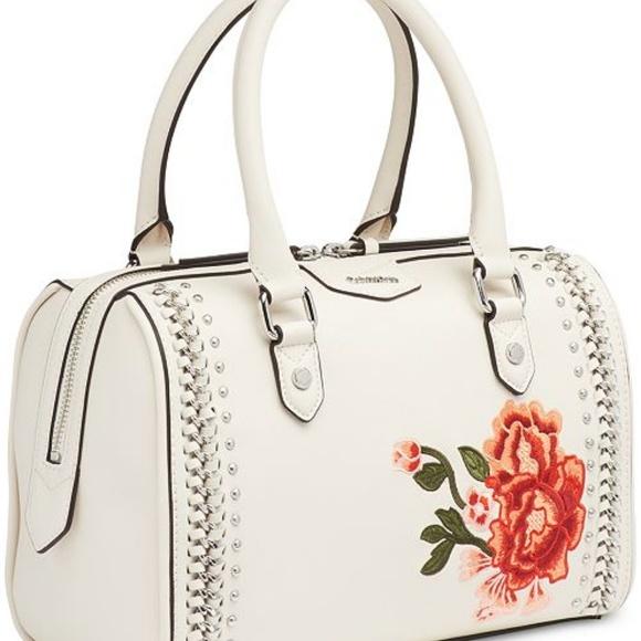 78b49b555179 ❤Calvin Klein white floral embroidered satchel ❤
